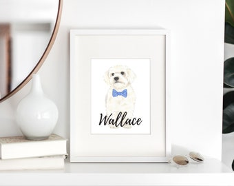 Personalized White Floof Fine Art Prints