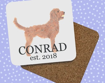 Side Profile Golden Doodle Coasters