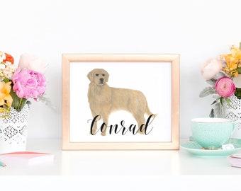 Custom Pet Painting (Landscape Style)