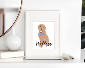 Personalized Golden Doodle Fine Art Prints