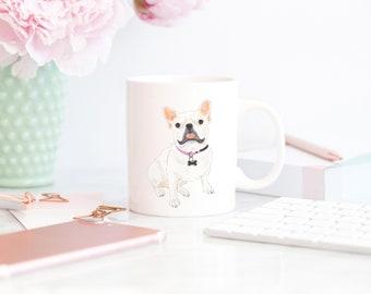 White / Pied Frenchie 11 oz. Mug