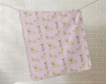 Chihuahua Fleece Baby Blanket