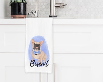 Personalized Masked Fawn French Bulldog Towel