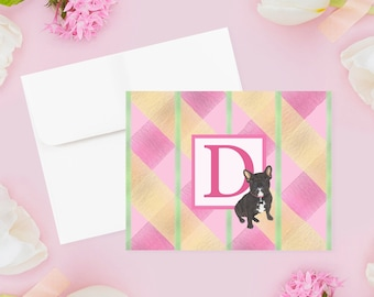 Monogrammed Folded Cards (Set of 10)
