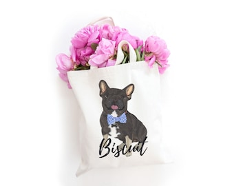 Black & Tan Tricolor French Bulldog Tote Bag