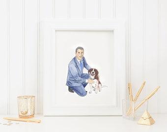 Custom Dog Dad Painting
