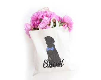 Personalized Black Lab Tote Bag