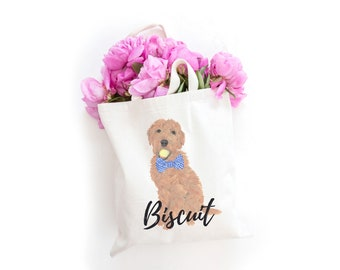 Personalized Golden Doodle Tote Bag