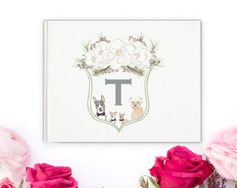 Watercolor Family Crest Guestbook