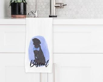 Personalized Black Lab Tea Towel