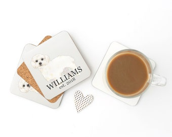 Personalized White Floof Coasters