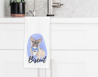 Personalized Tri-Color French Bulldog Towel