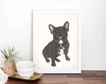 Black / Brindle French Bulldog Fine Art Prints