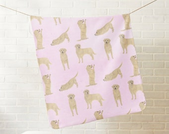 Fleece Golden Retriever Baby Blanket
