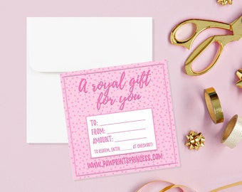 Royal Gift Certificate
