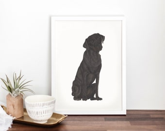 Personalized Black Labrador Fine Art Prints