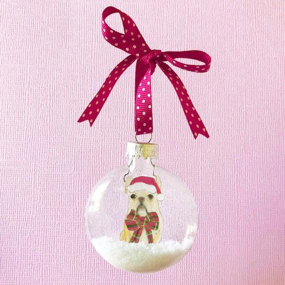 Custom Pet Portrait Christmas Ornament