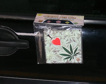 I LOVE WEED! (Homemade Game Guru Magnetic Suction Cup Car/Truck Window Decal)