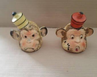 Vintage Shafford Monkey Salt and Pepper Shakers