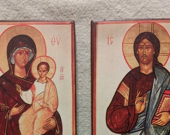 A pair of companion icons (originals by Leonid Ouspensky) Prints courtesy of St Vladimir's Seminary Press.