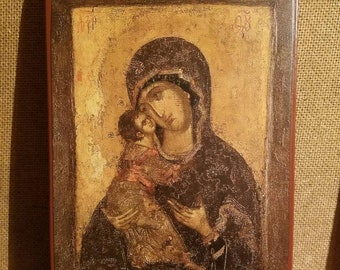 A version of the Vladimir icon of the Mother of God.