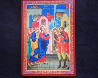 Icon of Christ healing the blind.