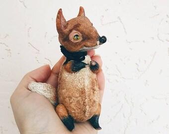 Miniature handemade little cute fox toy , animal toy, animal doll