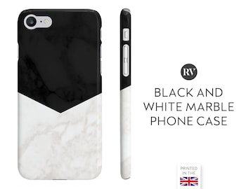 Black And White Marble Triangle Phone Case, Marble Phone Case, Geometric Marble Phone Case, Black Marble Phone Case, Arrow Phone Case