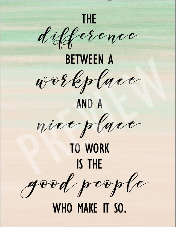 inspirational workplace office quote poster instant pdf