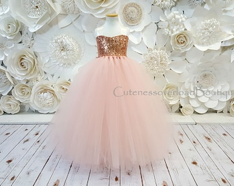 a75eec3f1c4 Blush Flower Girl Tutu Dress-Blush Dress-Blush Tutu Dress-Blush Bride Dress-Blush  Tutu-Blush Wedding Tutu Dress-Blush Birthday Tutu.