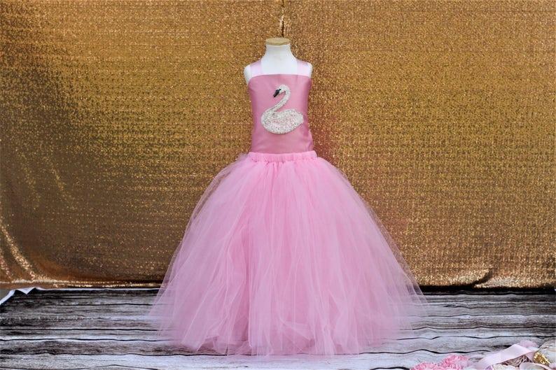 Light Pink Flower Girl Tutu Dress-Baby Pink Tutu Dress-Corset Tutu Dress.Flower Girl Tutu-Wedding Tutu-Birthday Dress