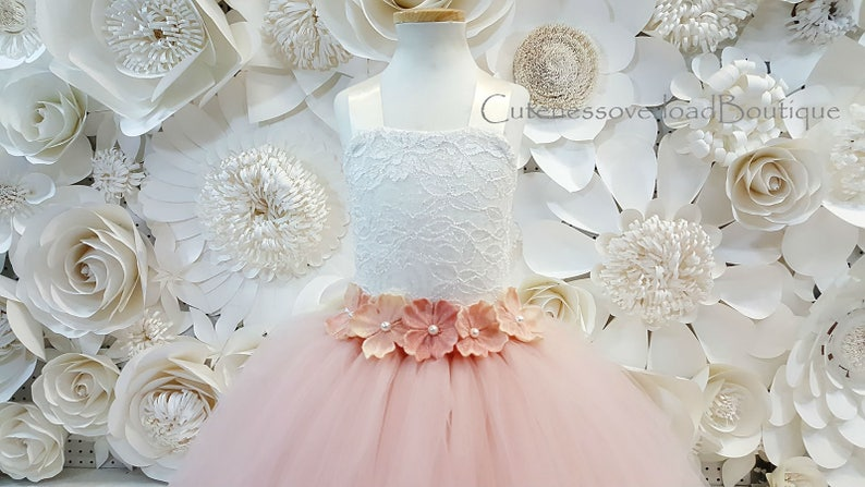 Blush Bride Dress-Blush Dress-Blush Tutu Dress-Blush Flower Girl Tutu Dress-Blush Flower Girl Dress-Blush Birthday Tutu-Blush Girl Dress.