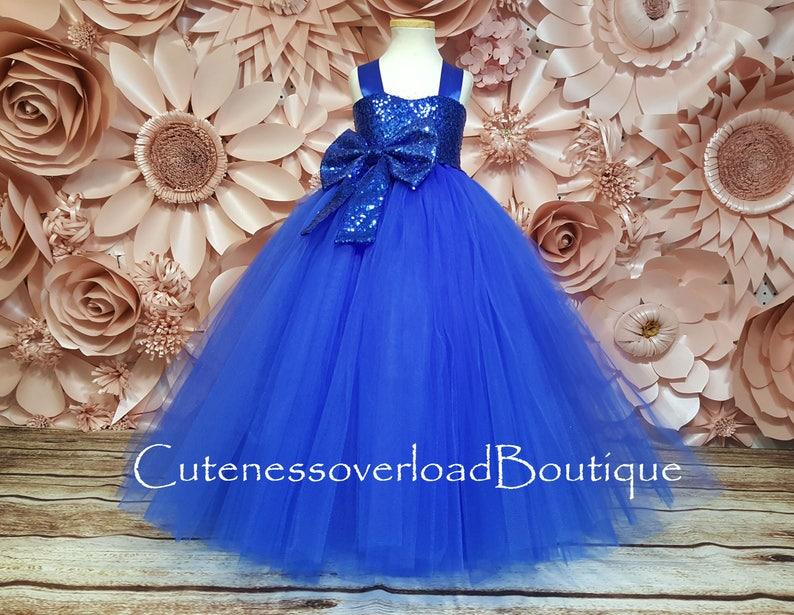 b8e68b67ca7 Royal Blue Flower Girl Dress-Royal Blue Dress-Royal Blue Tulle