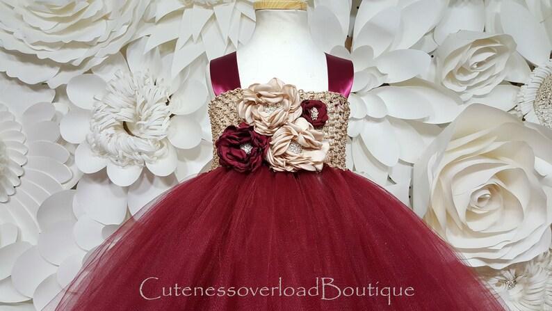 6bc5af6578d Burgundy Flower Girl Tutu Dress-Flower Girl Tutu