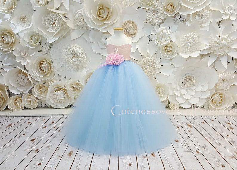 f585d877338 Ice Blue Tutu Dress-Ice Blue Flower Girl Tutu Dress-Ice Blue