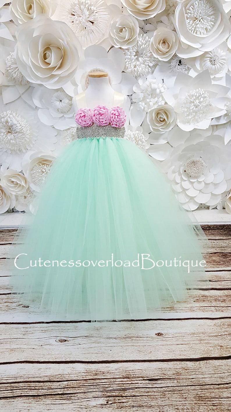 Mint Flower Girl Tutu Dress-Mint Tutu Dress-Mint Dress.Mint Bride Dress-Mint Tutu-Mint Wedding Tutu Dress-Birthday Tutu.