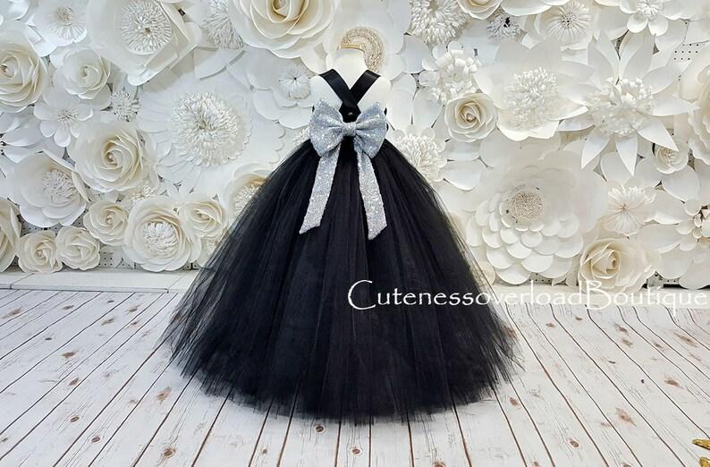 fd061ce918ab Nero fiore ragazza Tutu ragazze Dress-Black Dress-Black Tutu