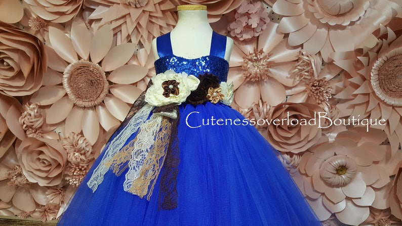 Royal Blue Dress-Royal Blue Flower Girl Dress-Royal Blue Tulle Dress-Royal Blue Tutu Dress-Royal Blue Weeding Dress-Royal Blue Wedding Dress