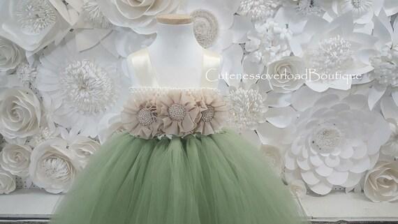5b67b4e3b8852 Salvia verde sabio Vestido de Tutu verde sabio Vestido de Tutu
