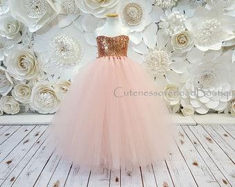 Blush Flower Girl Tutu Dress-Blush Dress-Blush Tutu Dress-Blush Bride Dress-Blush Tutu-Blush Wedding Tutu Dress-Blush Birthday Tutu.