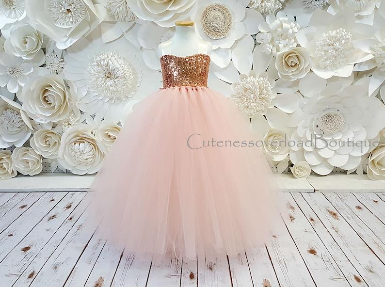 Blush Flower Girl Tutu Dress-Blush Dress-Blush Tutu image 0