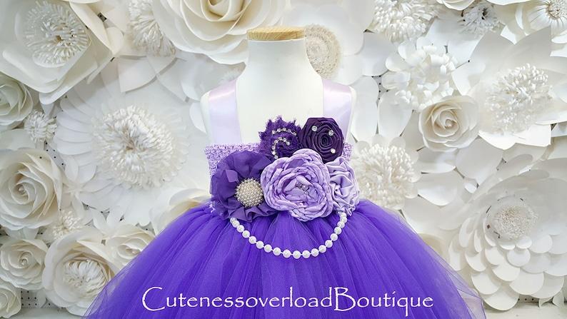 e749d15466d Regency Purple Tutu Dress-Regency Purple Flower Girl