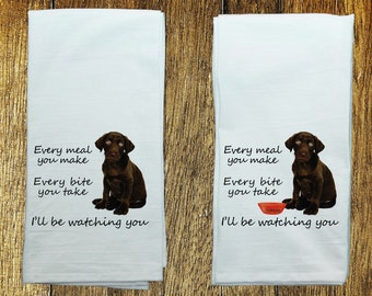 Chocolate Lab Towel Etsy