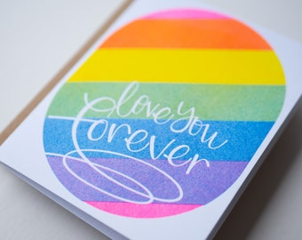 LGBTQ2IA+ Pride Card! Love is Love! Love You Forever
