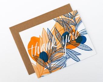 Thank You Card - Olive + Lemon - Handmade Card, Eco Friendly Gift