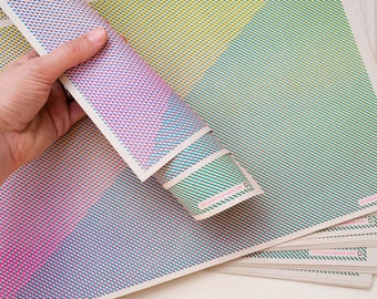 Wrapping Paper / Eco Friendly Decorative Paper in 11 x 17 inch sheets / Risograph Print Geometric Art / Craft Paper