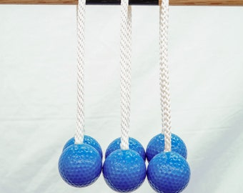Three Ladder Toss Bolas, Replacement Bolas, Golf Ball Bolas, Ladder Ball Bolas, Backyard Games, Party Games, Golf Bolas for Ladder Game