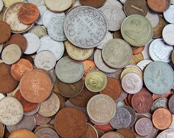 Bulk Foreign Coins by the Pound
