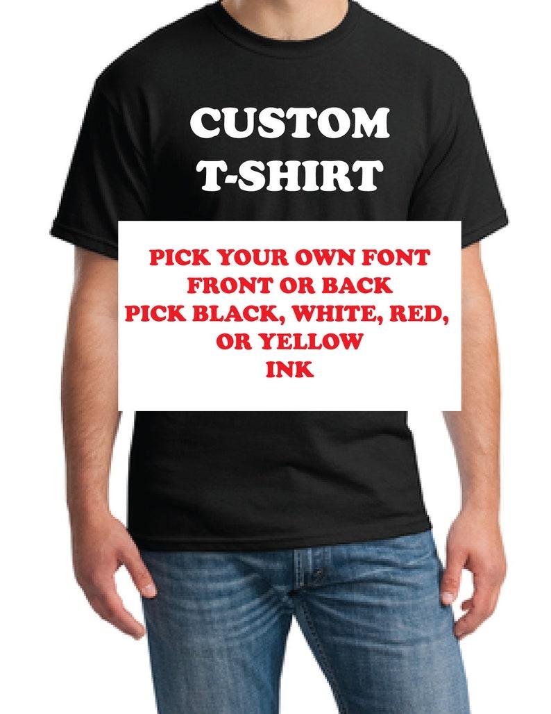 27e5a6e09 Custom t-Shirt Custom tee order-Custom shirt order-Fast | Etsy