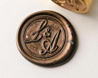 Personalized Initials wax seal stamp/Custom monogram wedding seals/wedding invitation seal/custom wedding stamp